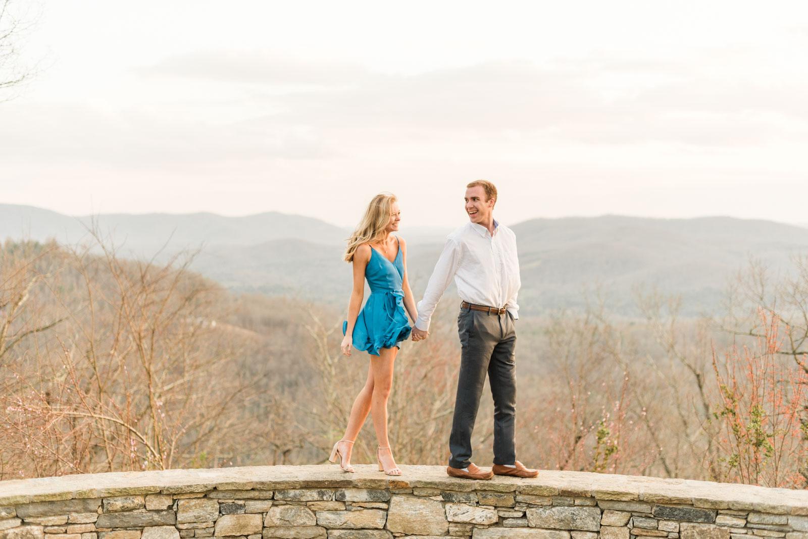 Sunset Mountain Engagement in North Carolina Morgan & Nathan Markie Walden Photography-31.jpg
