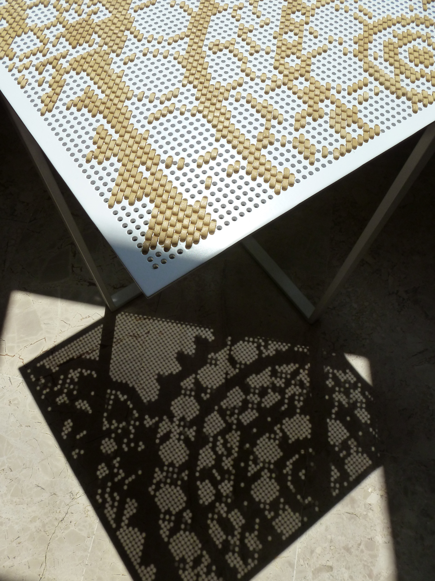 perforated sheet shadow