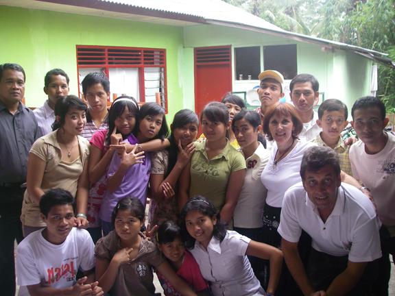 Barbara Marshall at the Orphanage in Bali.