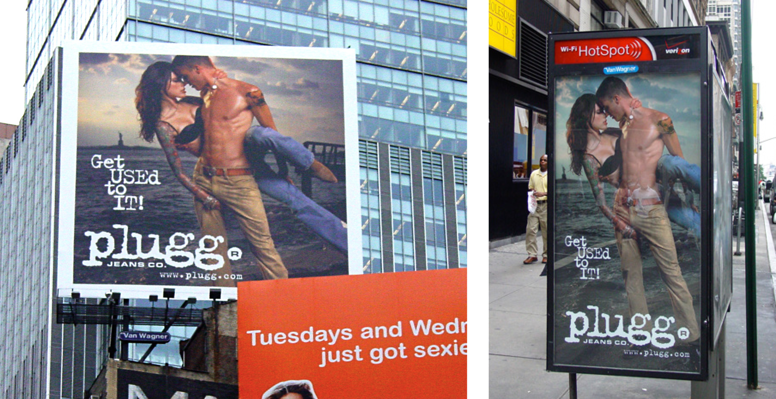 Times Square Billboard and Phone Booth Ads