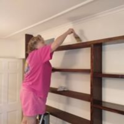 clear coating bookshelves