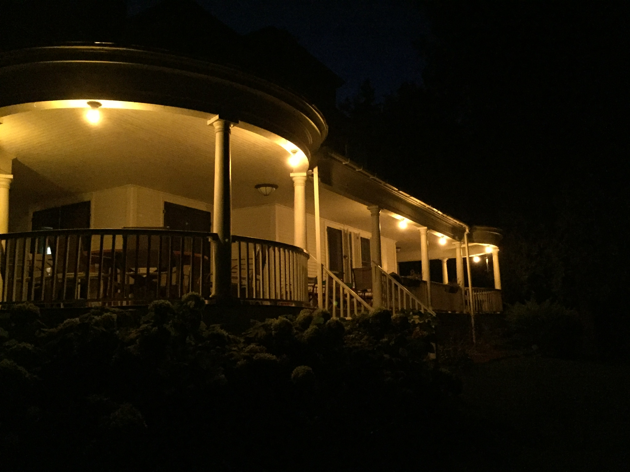 Maple Porch at Night