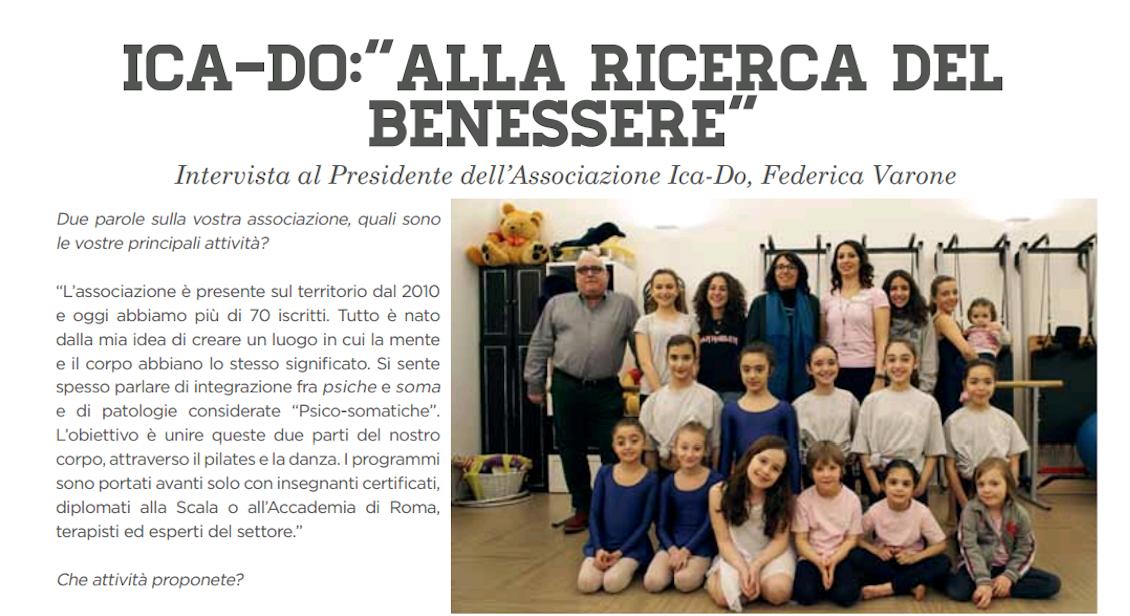 Intervista a Federica Varone, Presidelnte di Ica-Do, su Tutto Rozzano. Febbraio 2017