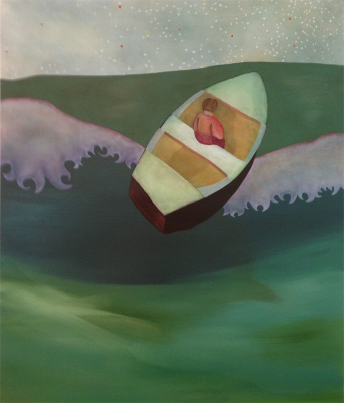 Boat, oil on panel, 24 x 20 inches, 2012