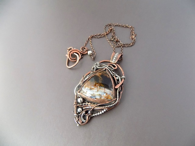 agate mixed metal silver and copper pendant.jpg