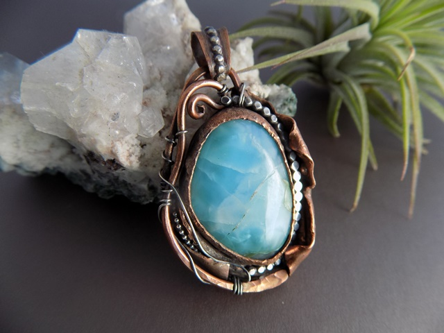 larimar mixed metal pendant copper and silver.jpg