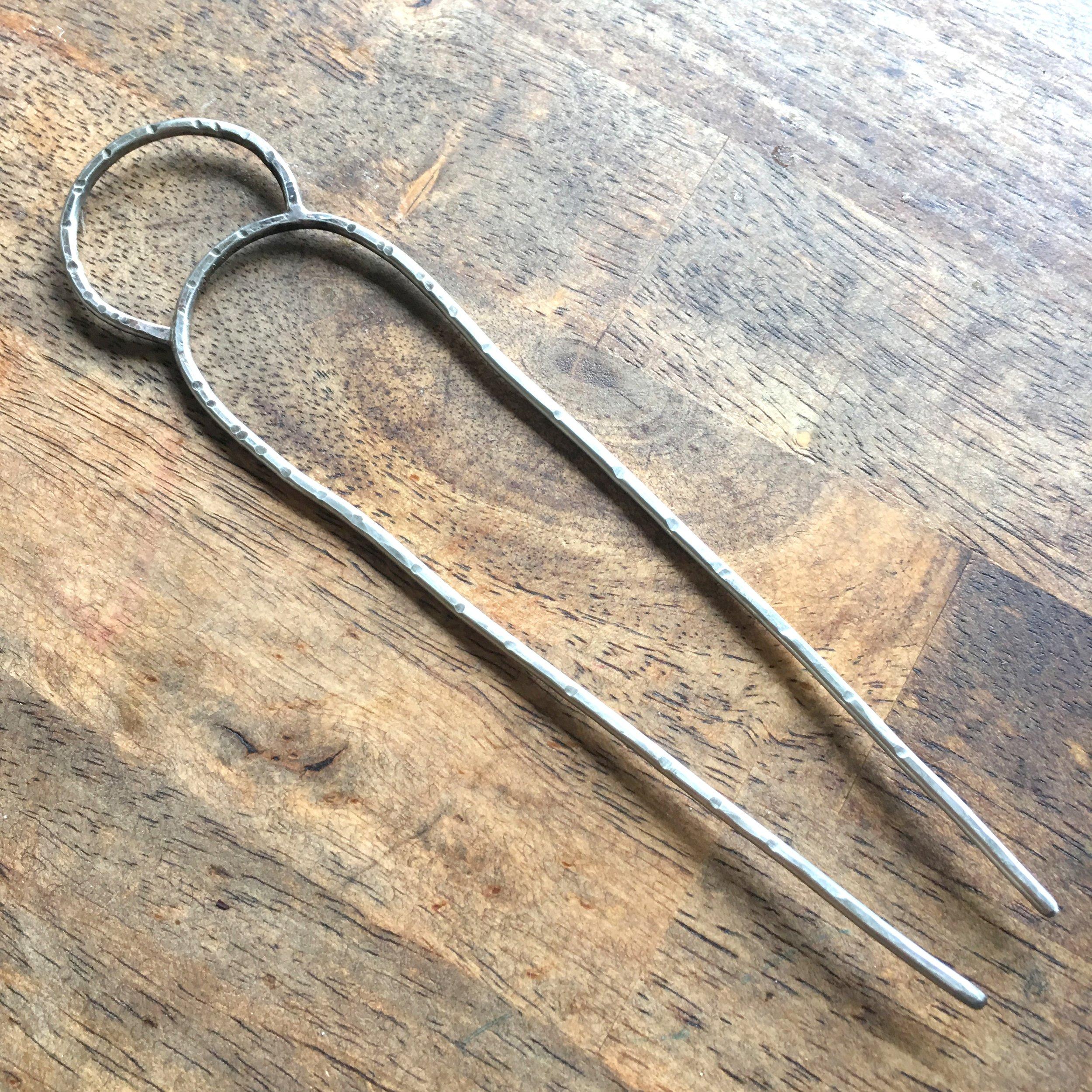 Silver Moon Rising Hair Pin