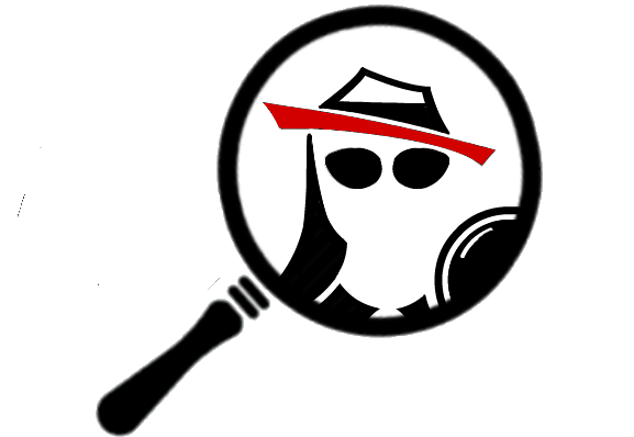 THE COLLEGE SPY LOGO SEEN THROUGH A MAGNIFYING GLASS.