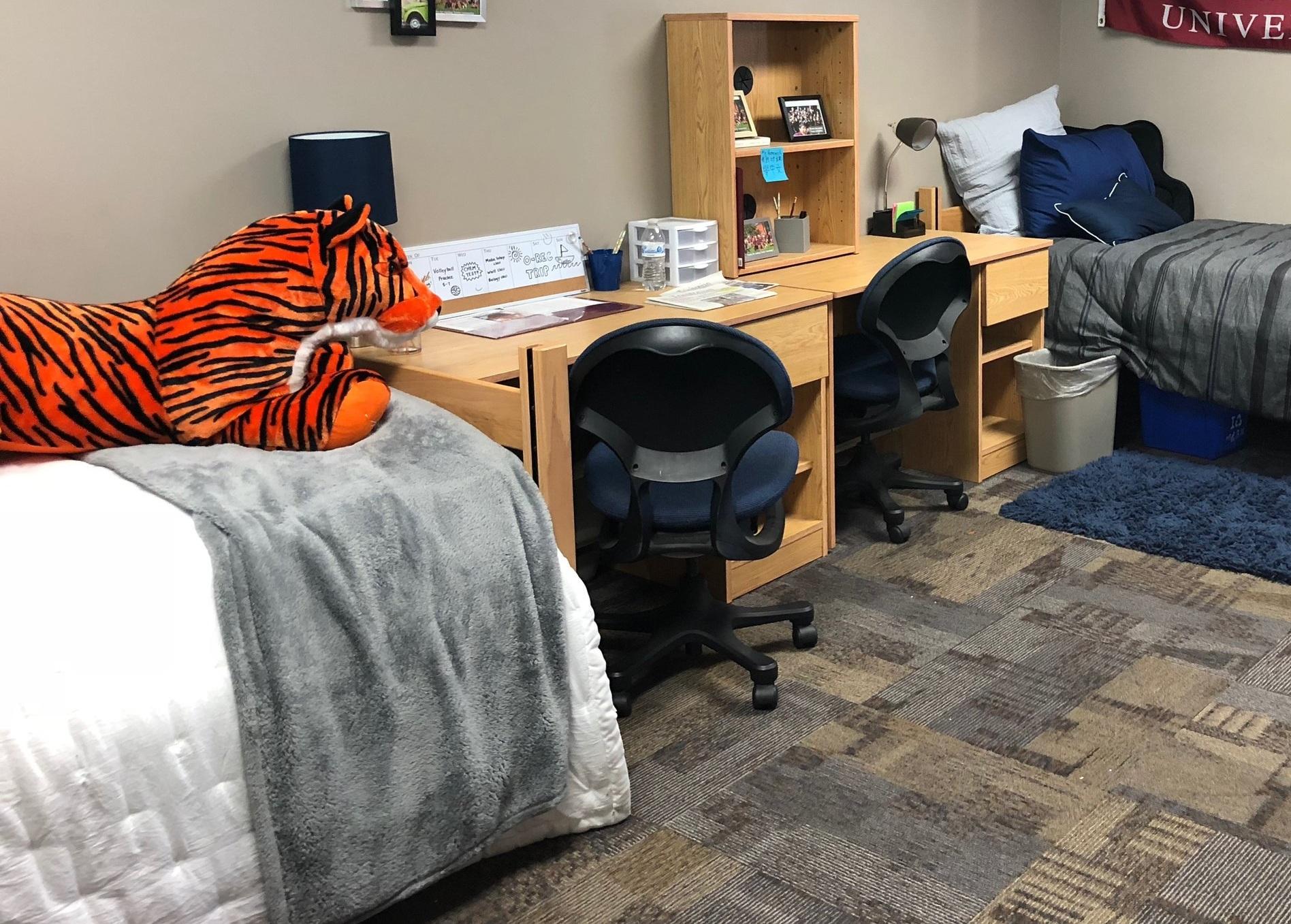 A college dorm room.