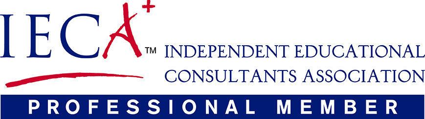 LOGO FOR IECA, THE INDEPENDENT EDUCATIONAL CONSULTANTS ASSOCIATIOn. LINKS TO THE IECA WEBSITE.