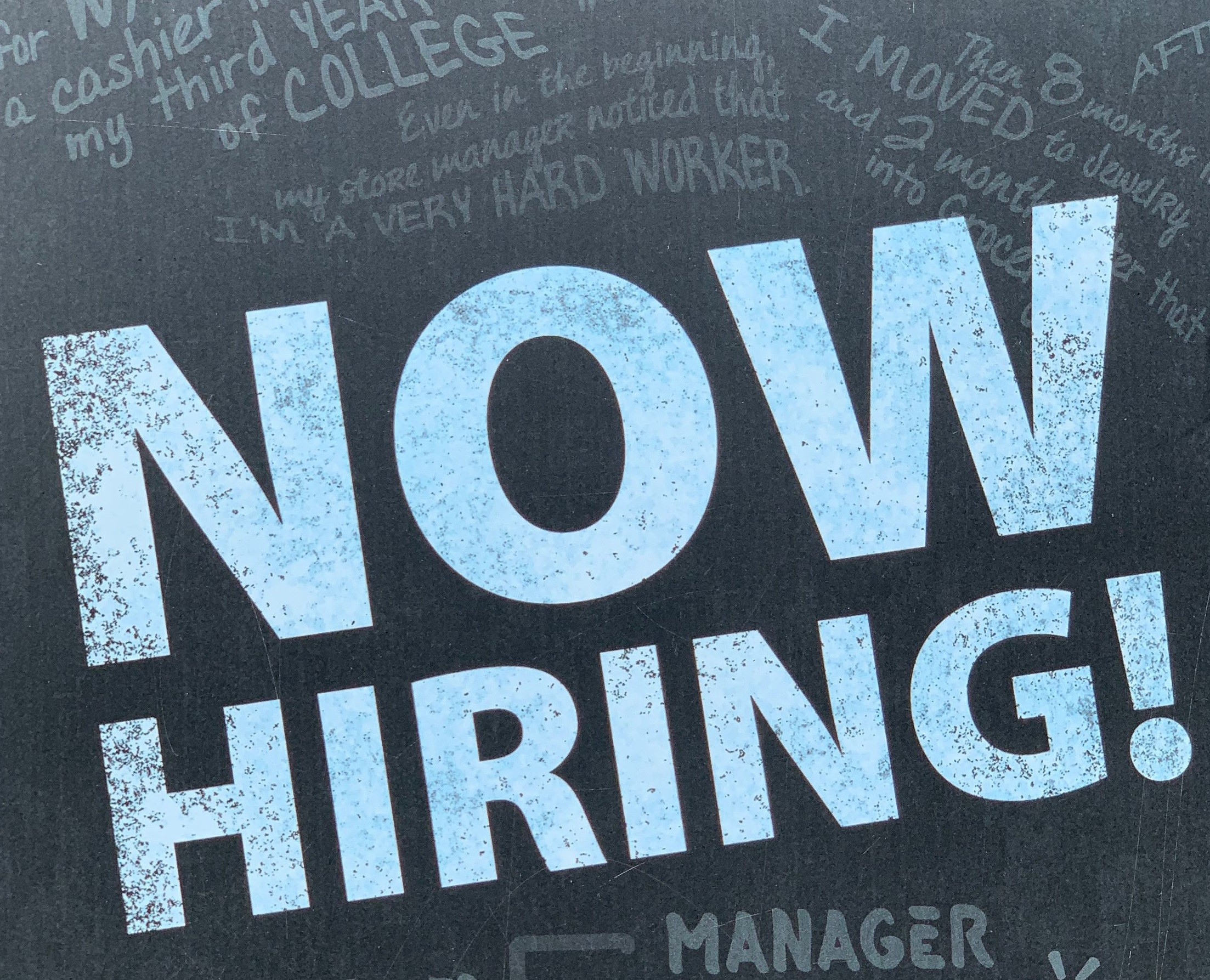 Image OF A NOW HIRING SIGN