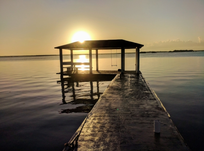 Sunrise over Lake Bacalar