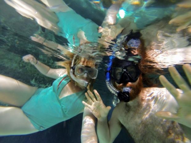 Snorkeling in the Grand Cenote