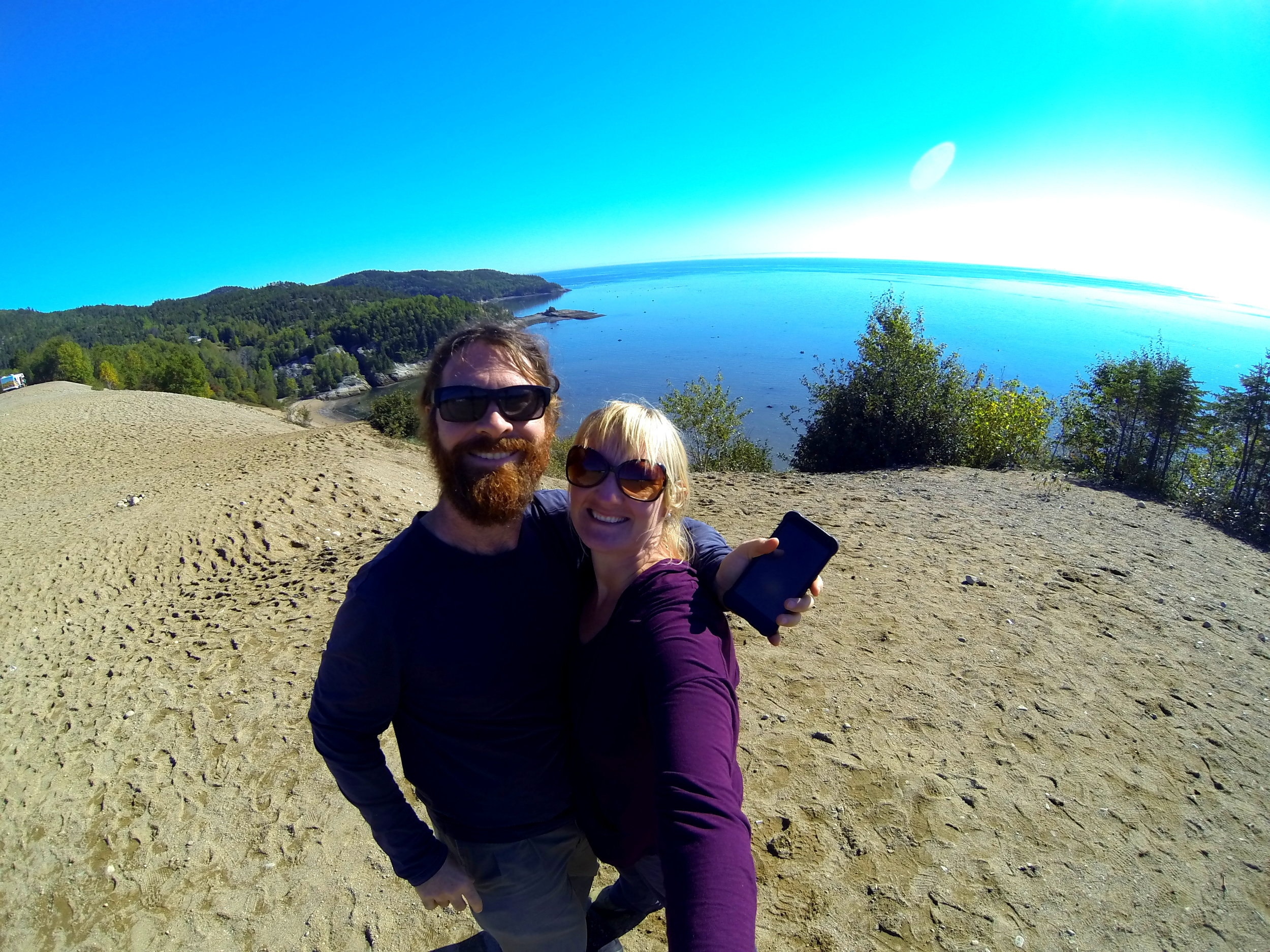On top of the Tadoussac sand dunes