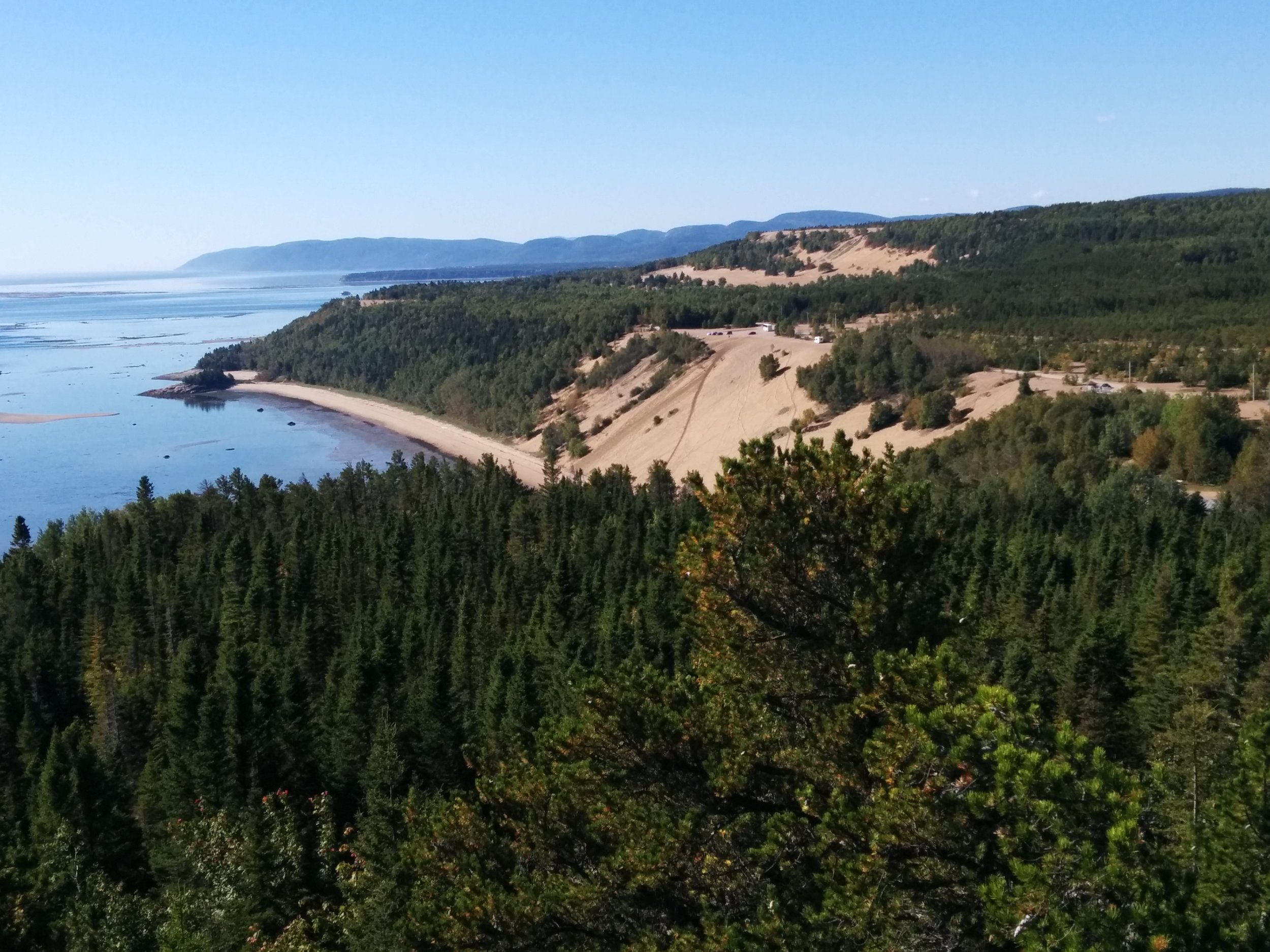 Tadoussac dunes from the lookout