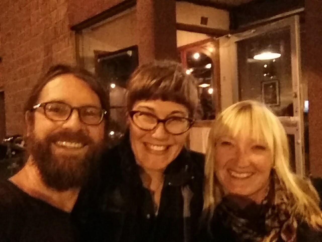 J, Renee and I enjoying some delightful libations at Dieu du Ciel
