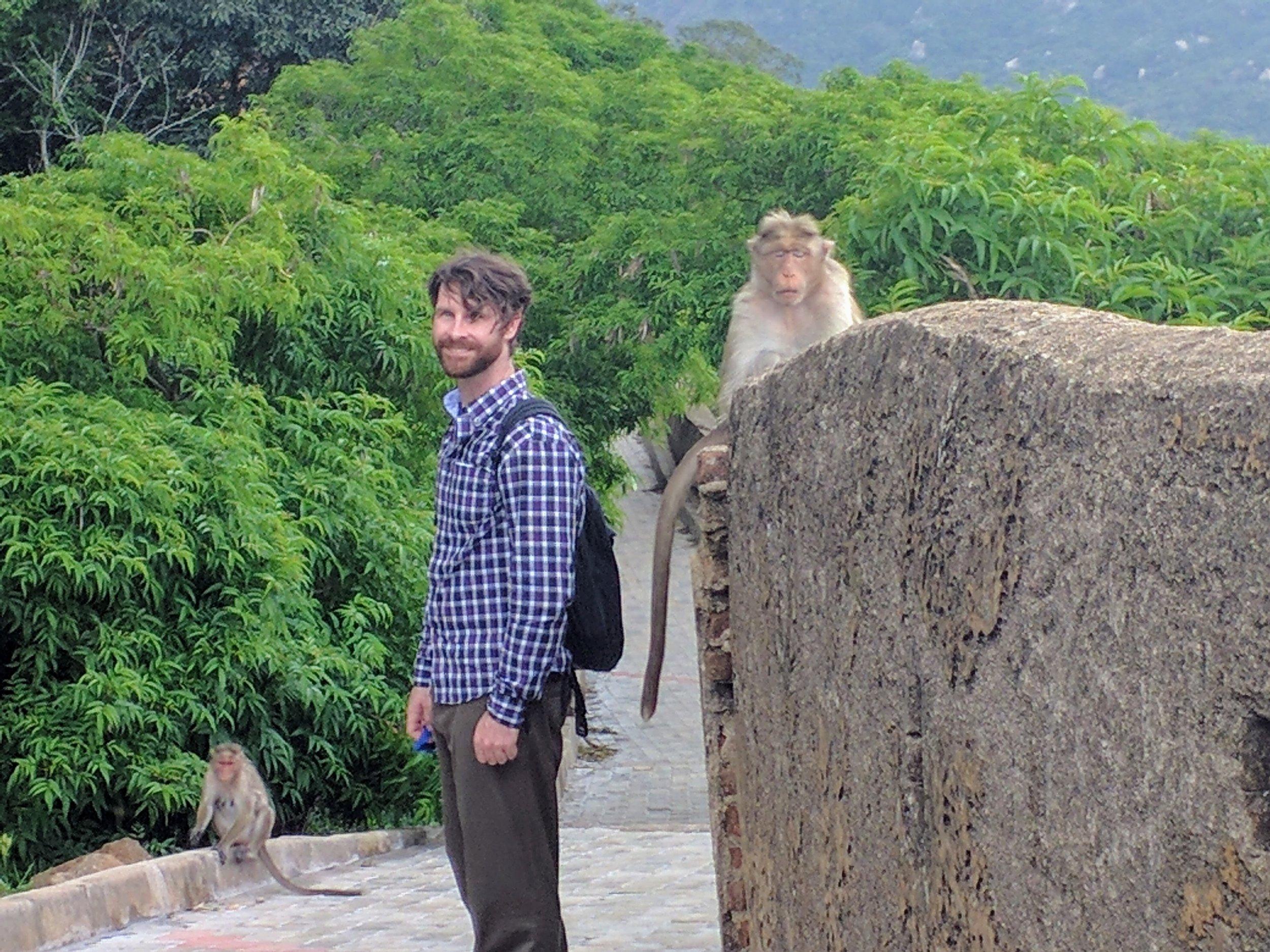 J makes friends with icecream stealing monkeys
