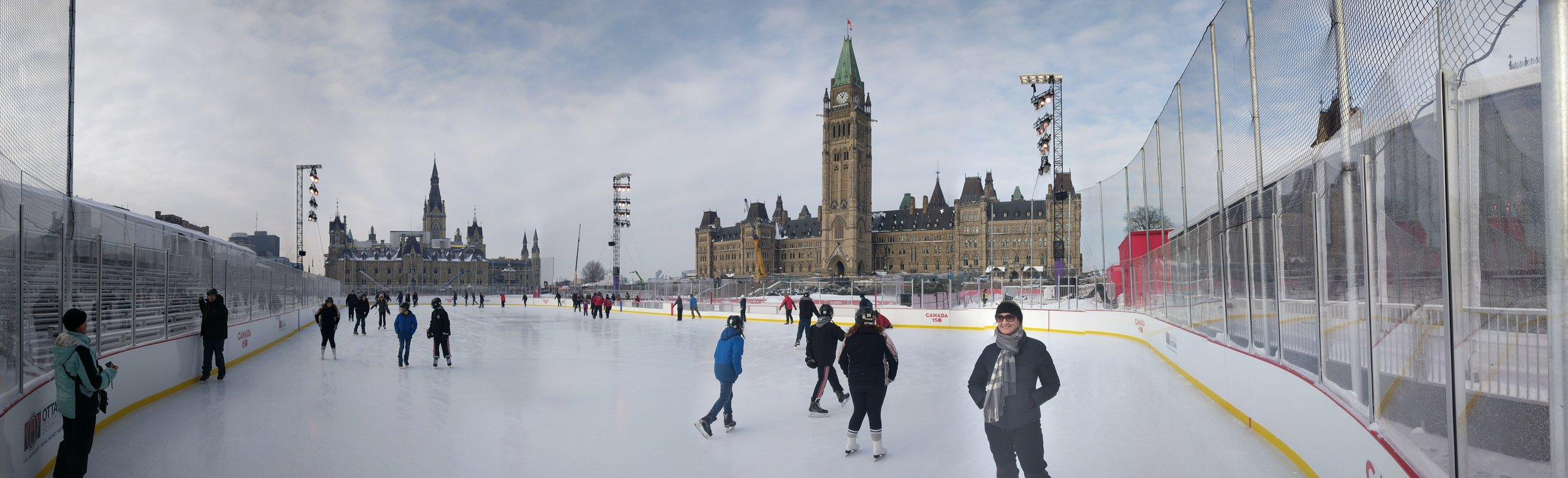 Skating pano