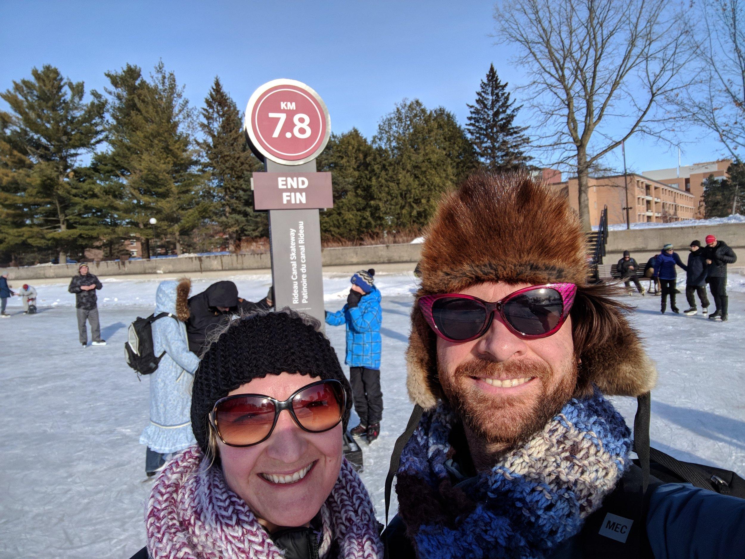 Kilometer 7.8! We made it!