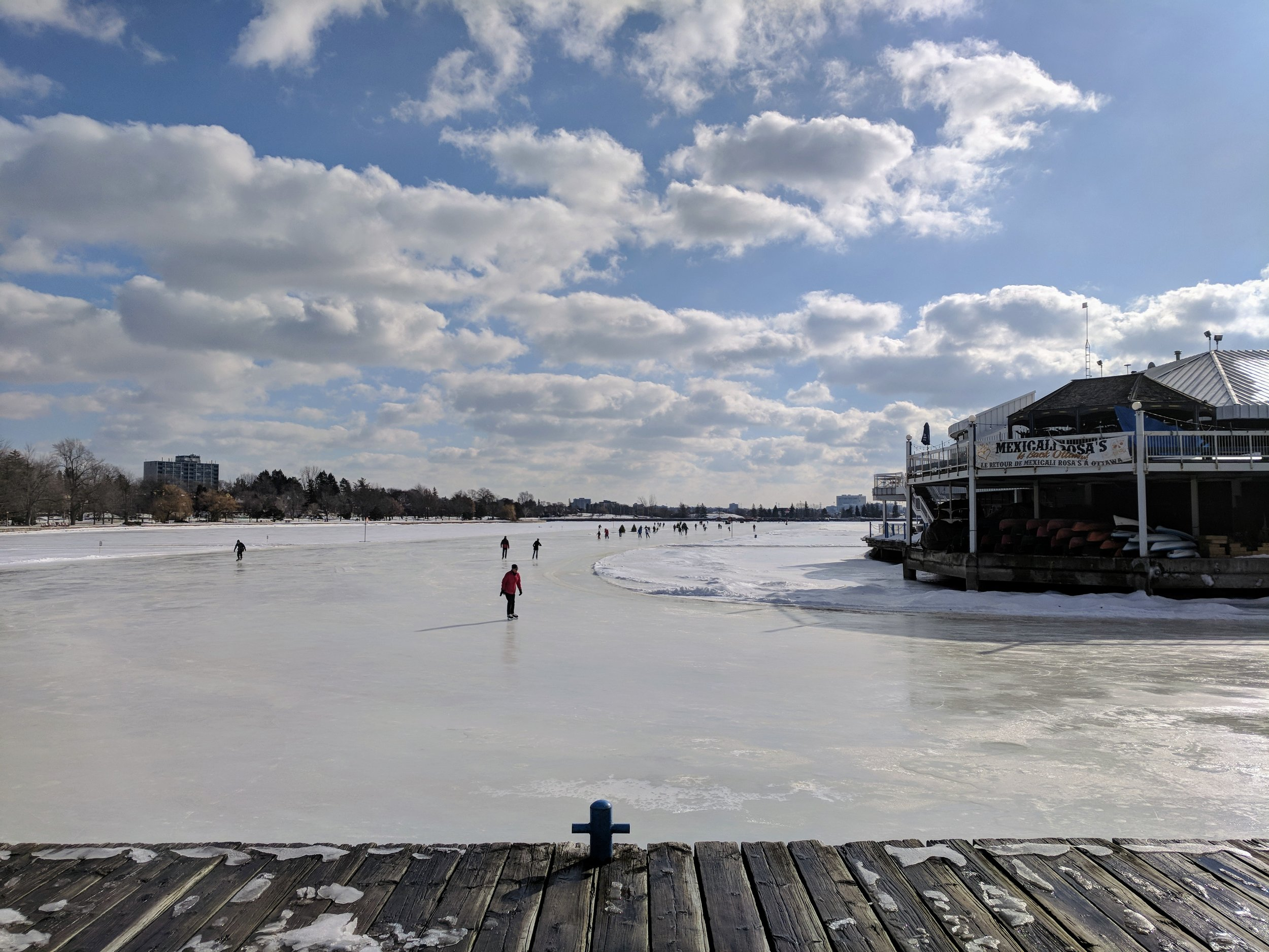 The skateway from Dow's Lake