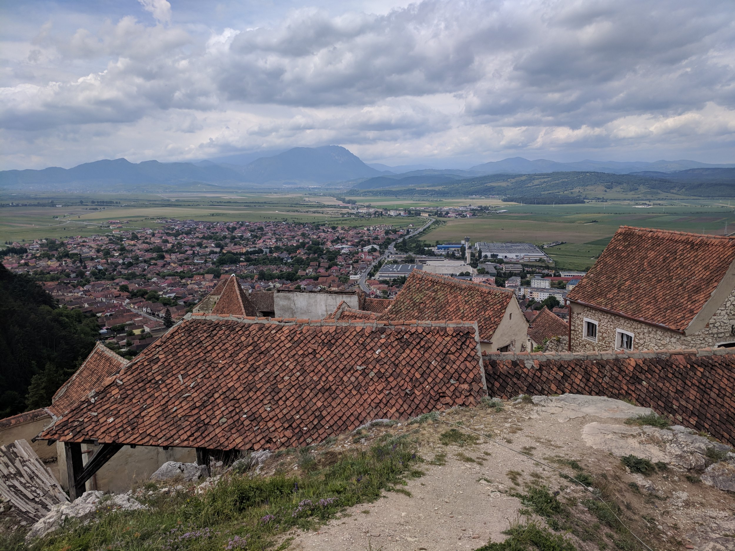 The view from the Rasnov Citadel