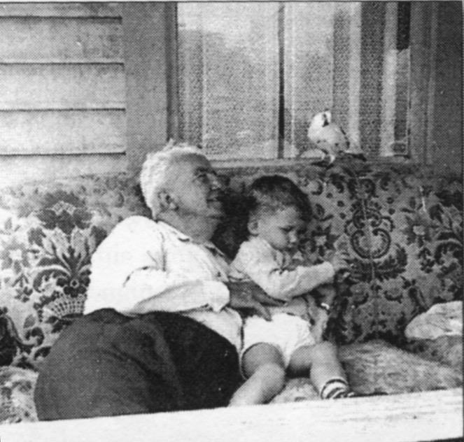 Edmund and Abi with Tipi (ca. 1954)