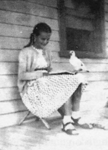 Terry and Tipi Reading (ca. 1954)