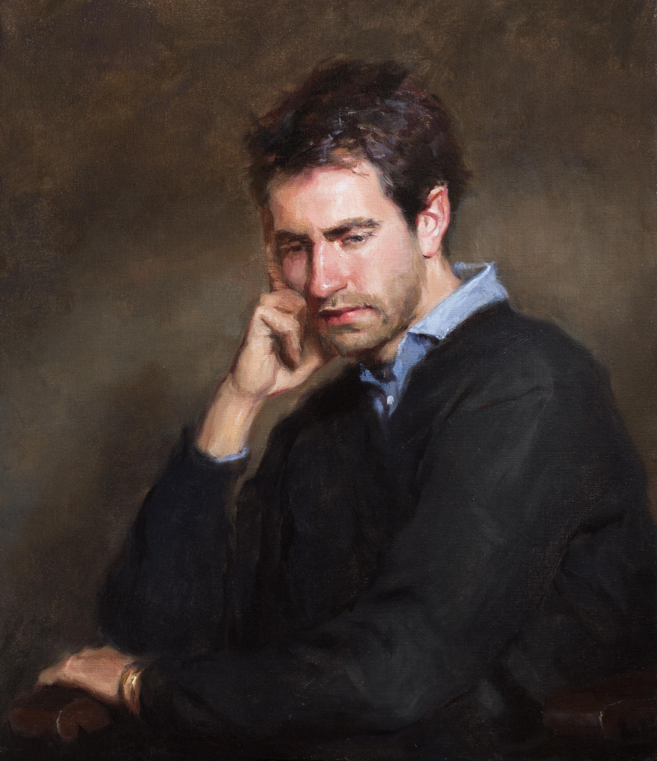 'Pensive' 80 cm x 70 cm Oil on linen