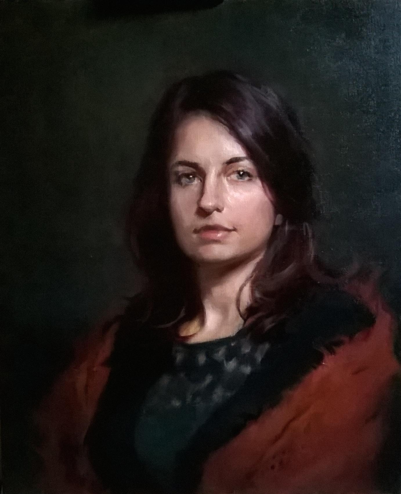 'Elisa' 60 cm x 50 cm Oil on linen