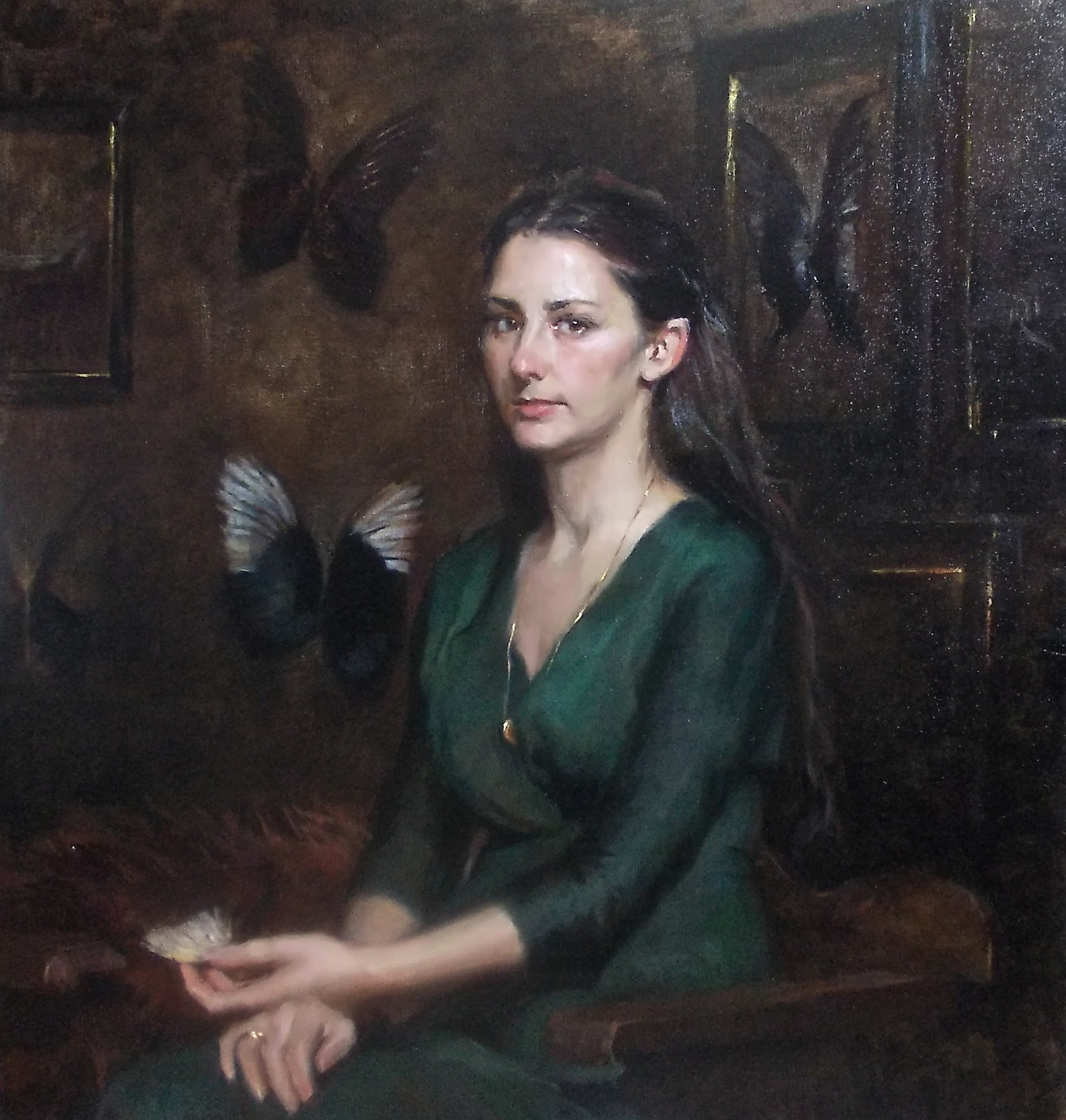 'Amy' 100 cm x 95 cm Oil on linen
