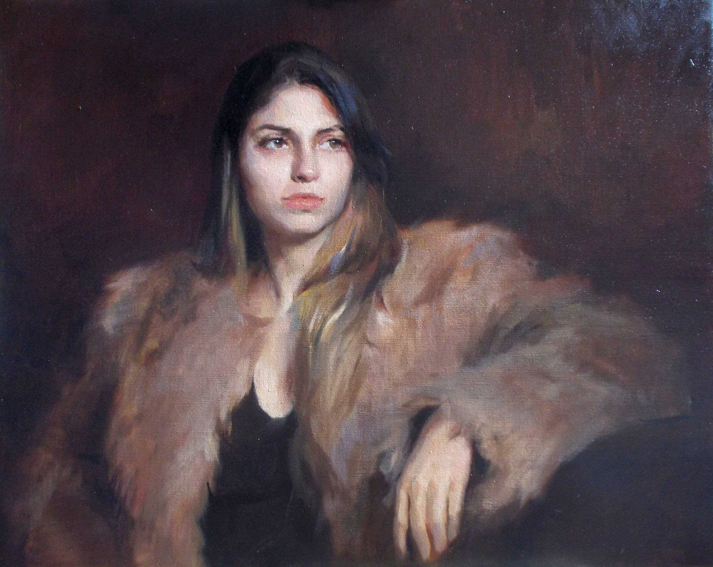'Winter furs' 60 cm x 75 cm Oil on linen