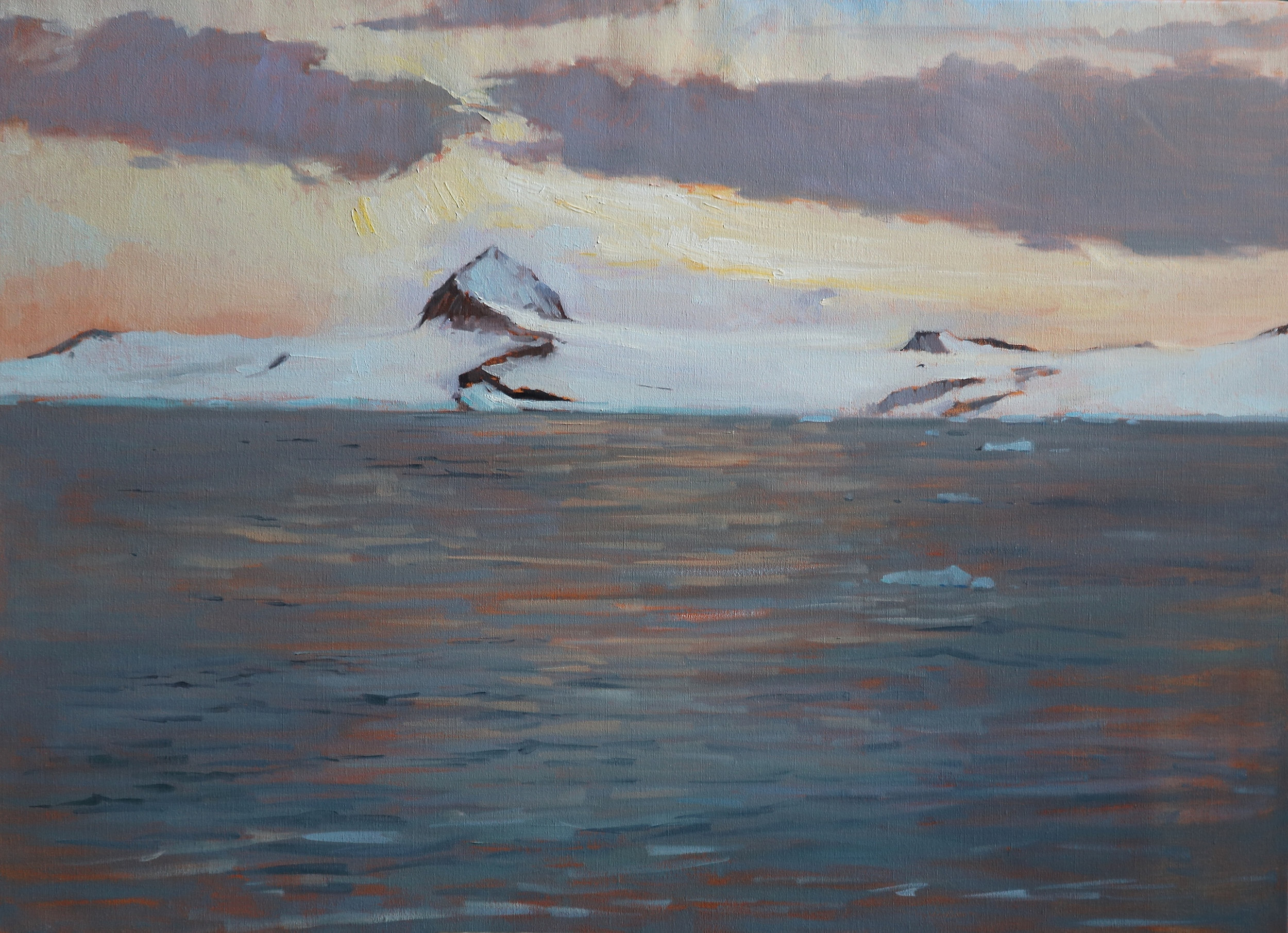 'Sunset in the Antarctic' 110 cm x 80 cm