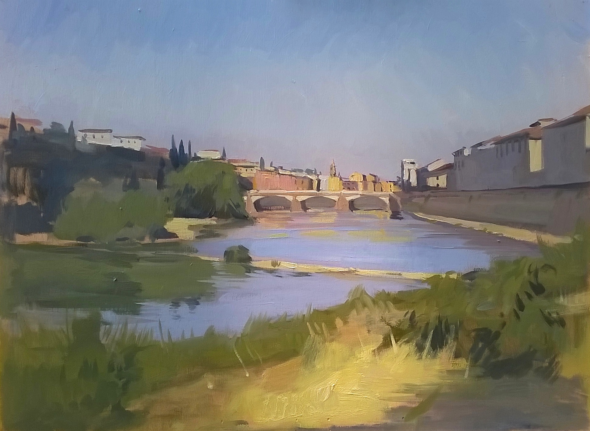 'la Vista sull'arno 2' 30 cm x 40 cm Oil on panel