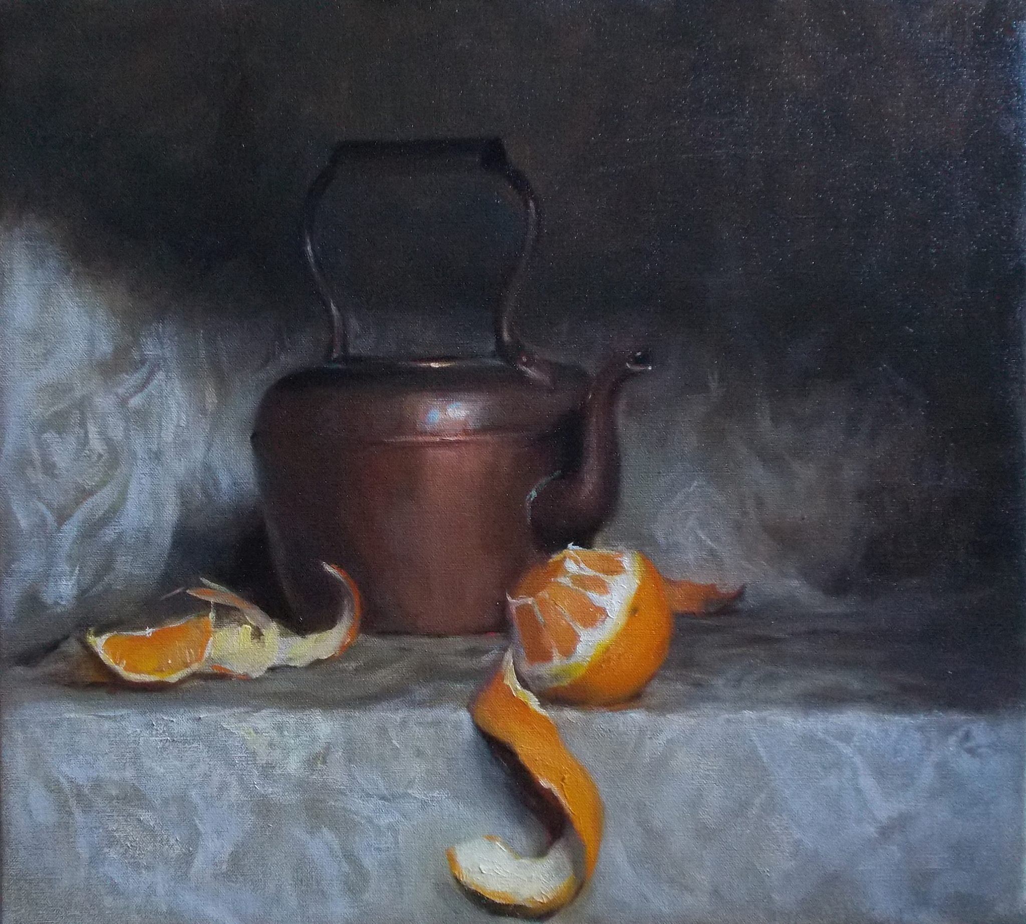 'The Orange peel' 45 cm x 55 cm Oil on linen