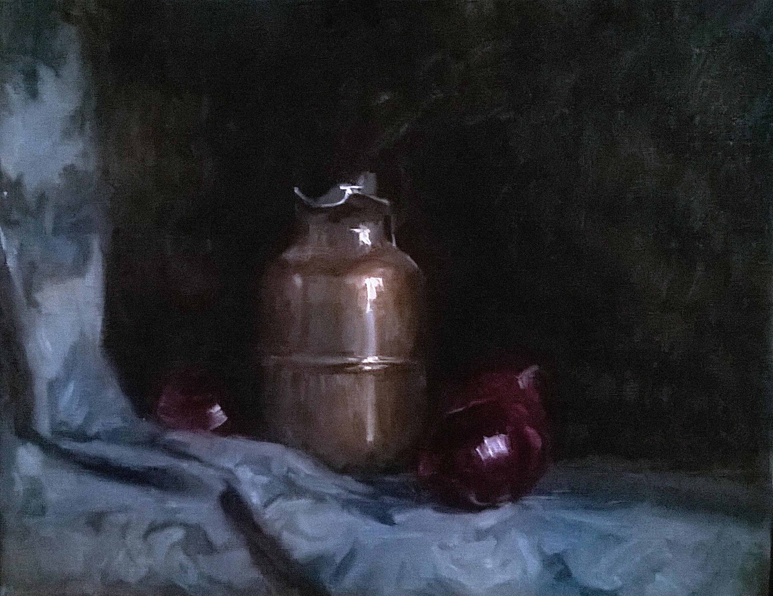 'Jar with Onions' 45 cm x 55 cm Oil on linen