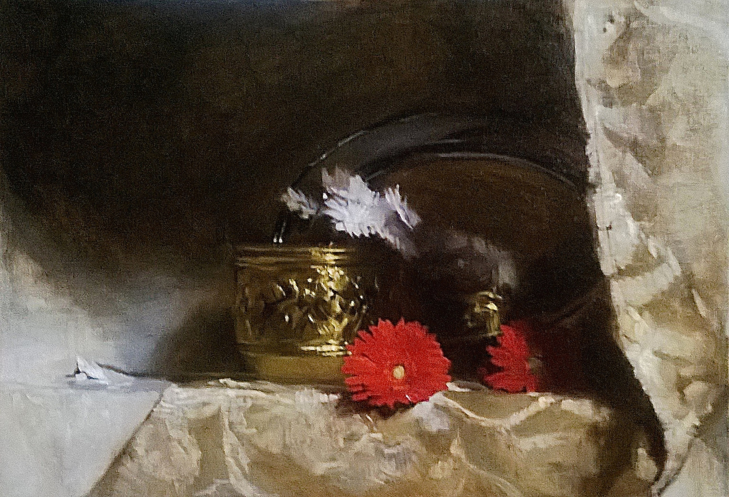 'Composition in Gold' 55 cm x 65 cm Oil on linen