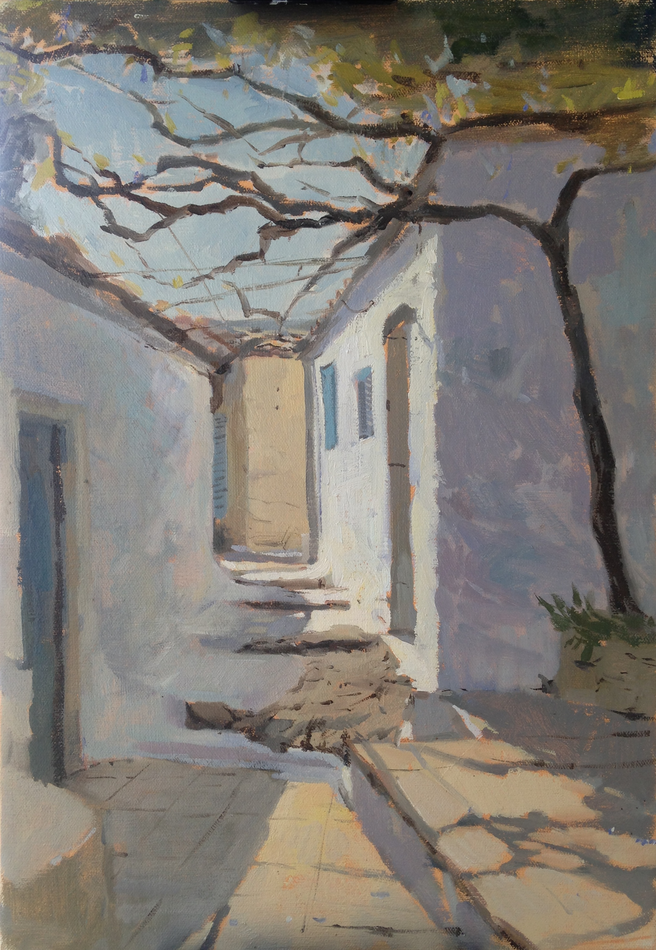 Afternoon light in Greece 35 cm x 50 cm Oil on Linen