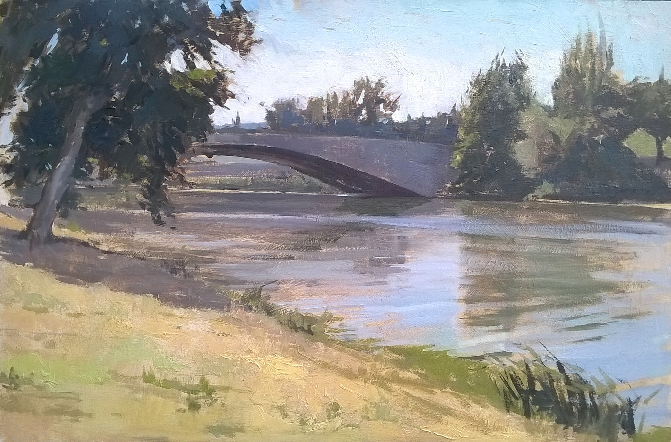 Along the Arno 2 , 40 cm x 60 cm Oil on linen