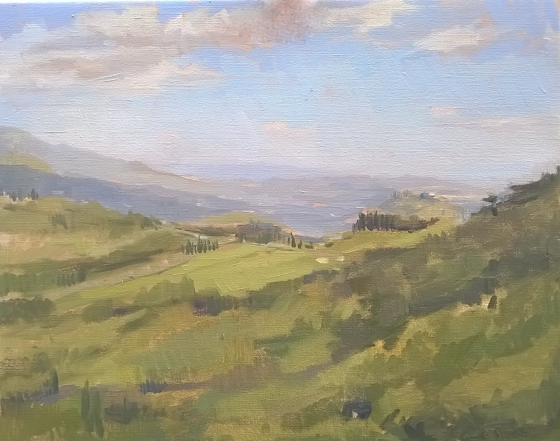 The valley in Lucca 35 cm x 50 cm Oil on linen