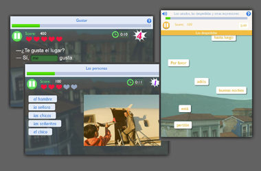 Mobile mini-games - Students prepare the vocabulary and grammar they'll need in mobile-friendly mini-games.