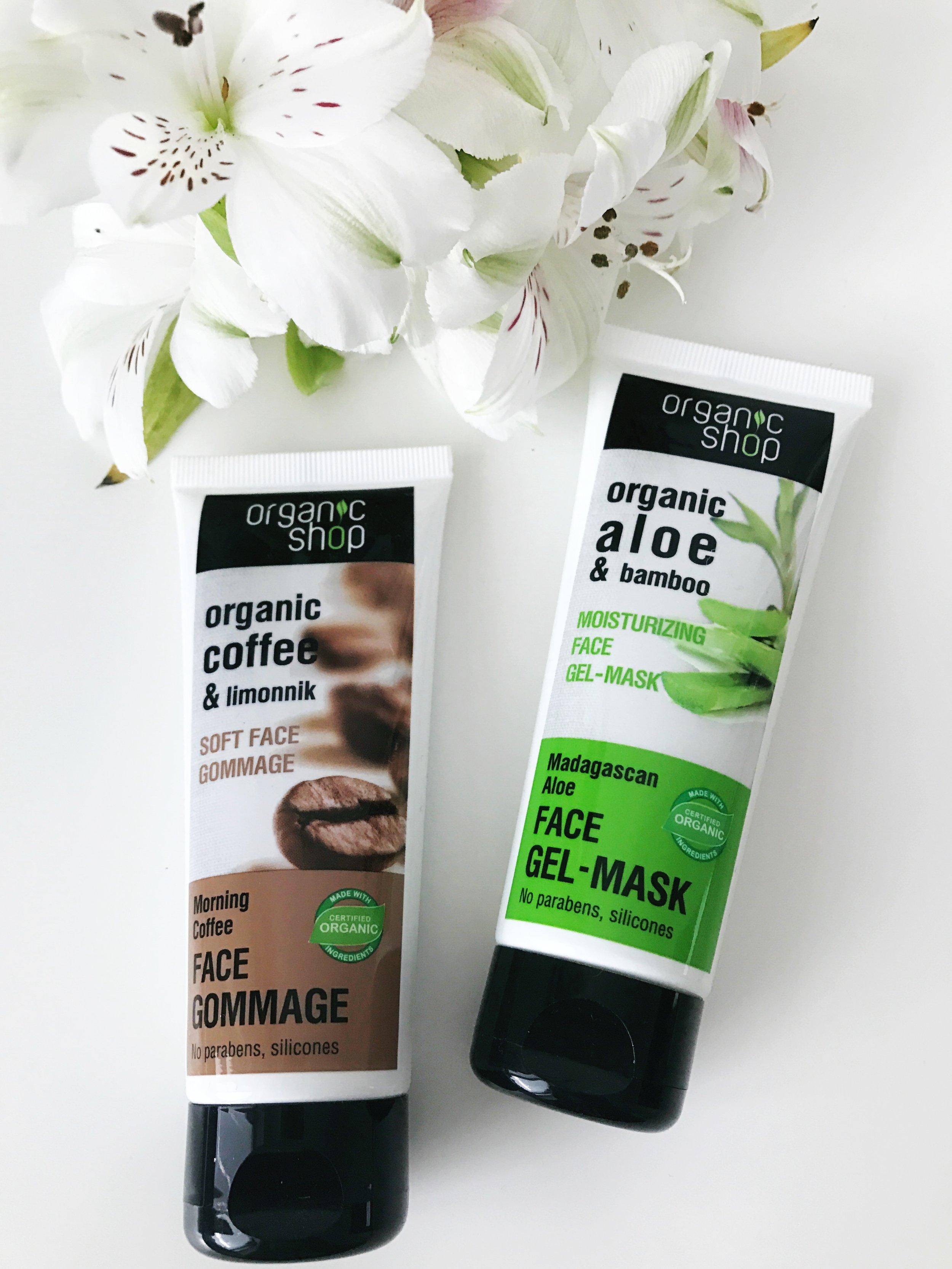 Organic Shop Face Mask & Face Scrub