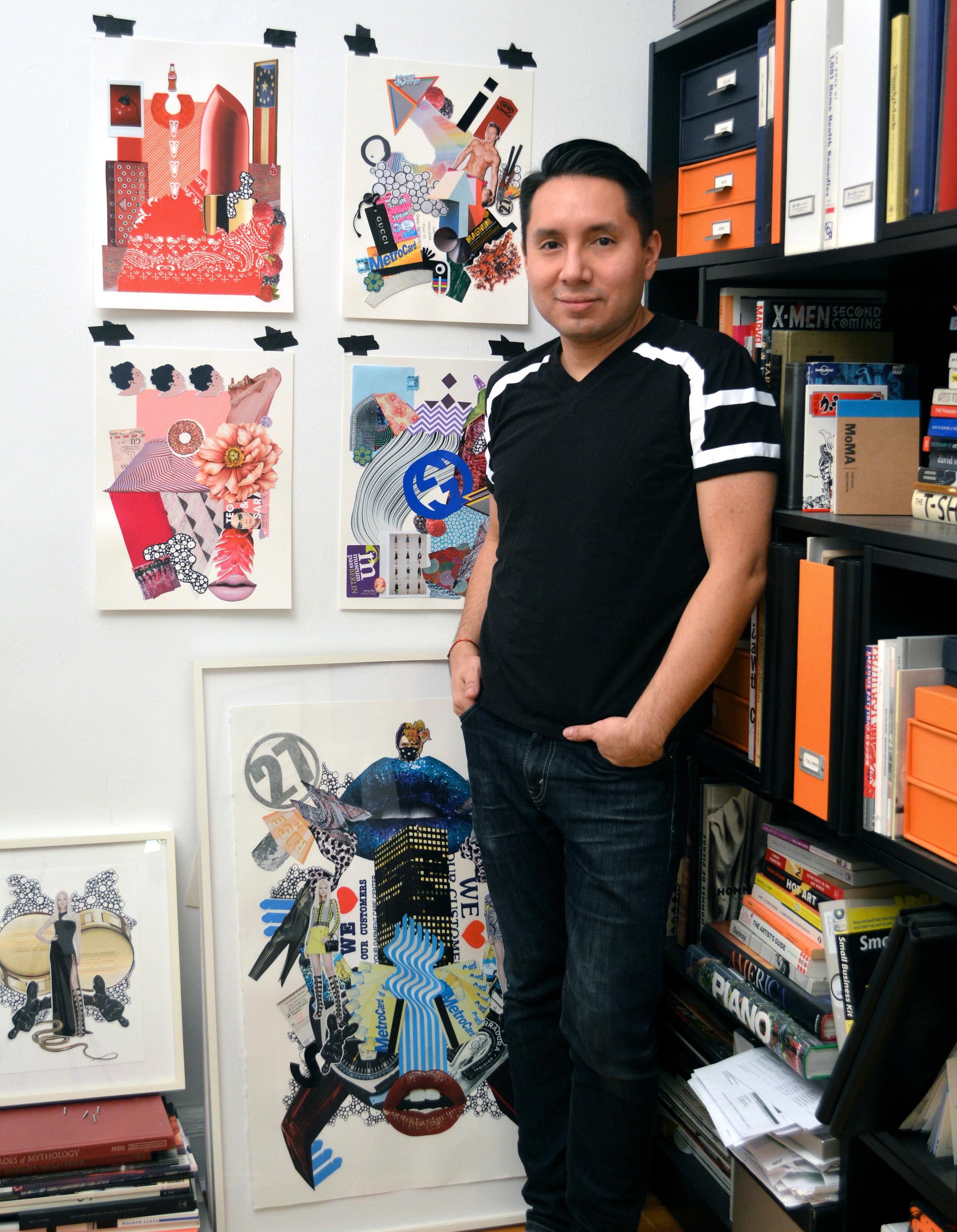 Juan Hinojosa in his Long Island City studio, courtesy of the artist.