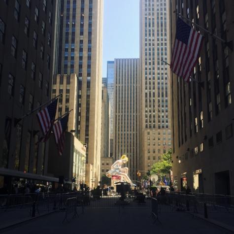 Jeff Koons: Seated Ballerina at Rockefeller Center through June 2