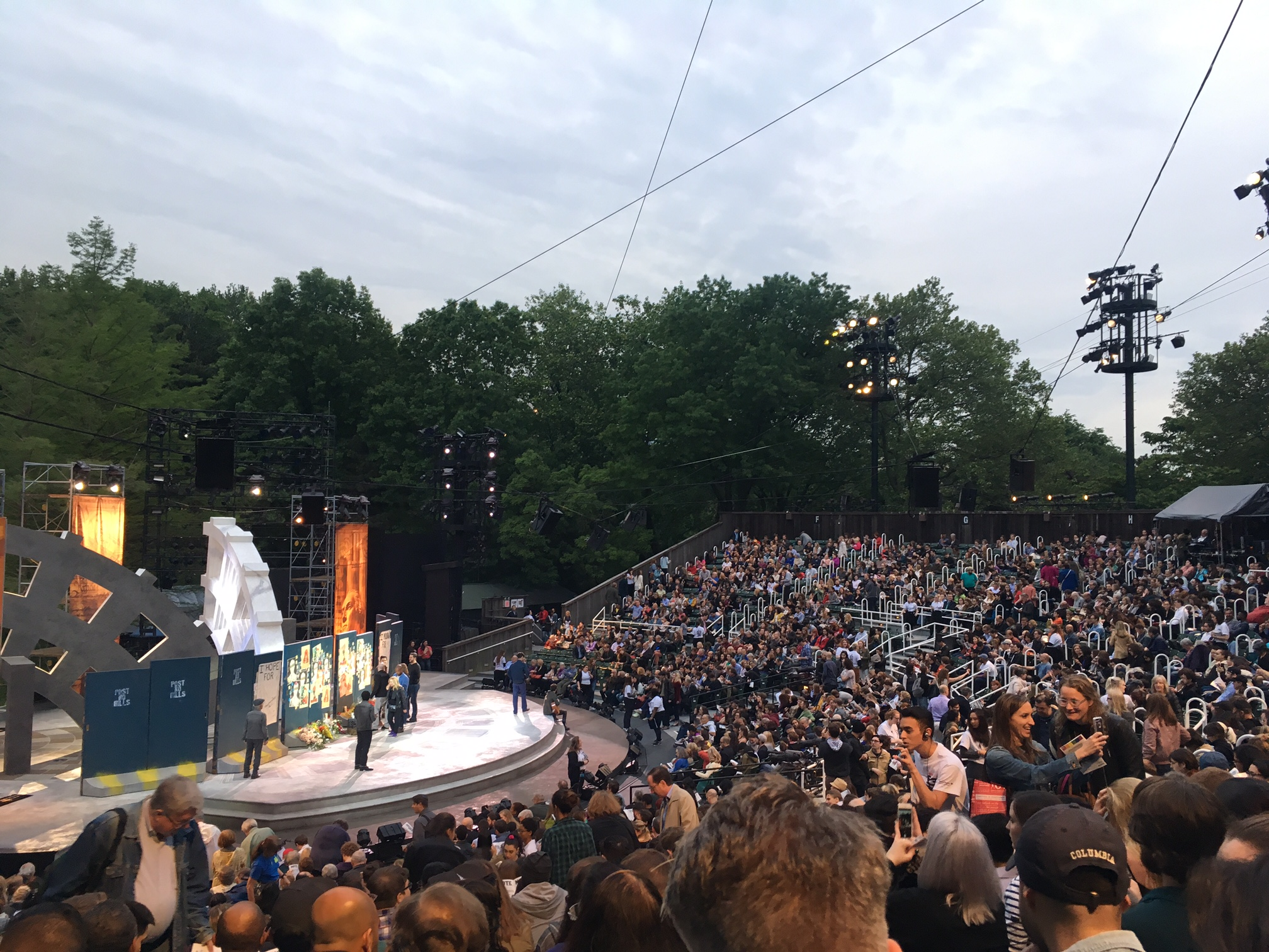 """Julius Caesar"" at Shakespeare in the Park (Photo: Mara Vlatkovic)"