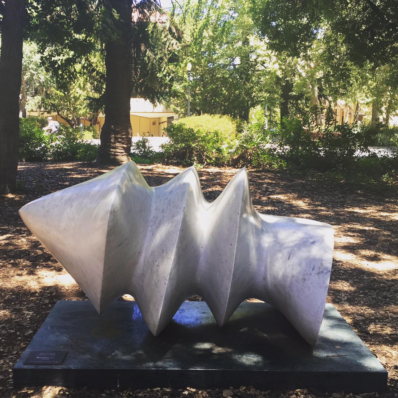 Antoine Poncet, Retrofutée, 1969 , marble, Stanford University Campus. Photo Credit: Mara Vlatkovic