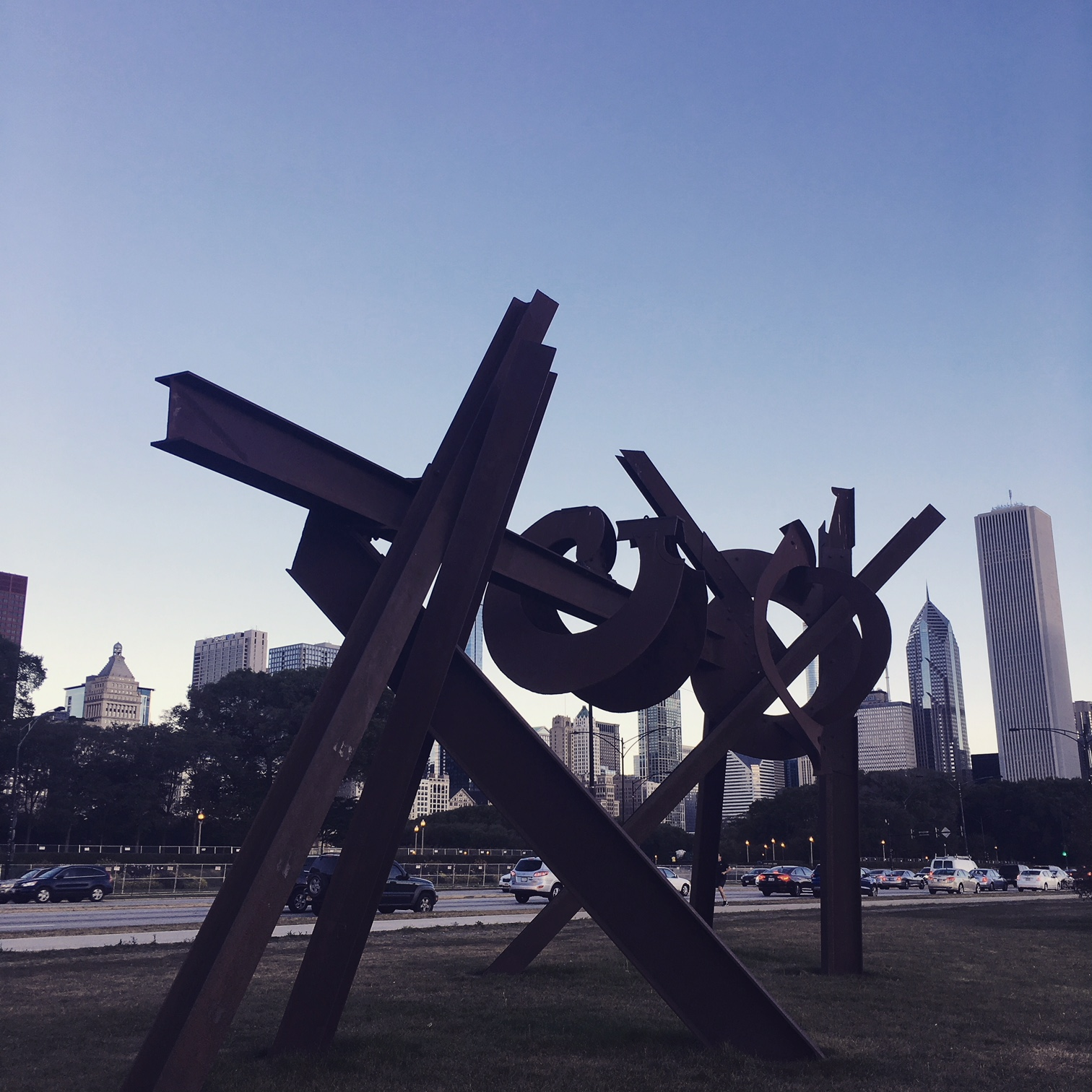 """Magma 2008-11"" by Mark di Suvero in Chicago. (Photo by Mara Vlatkovic)"