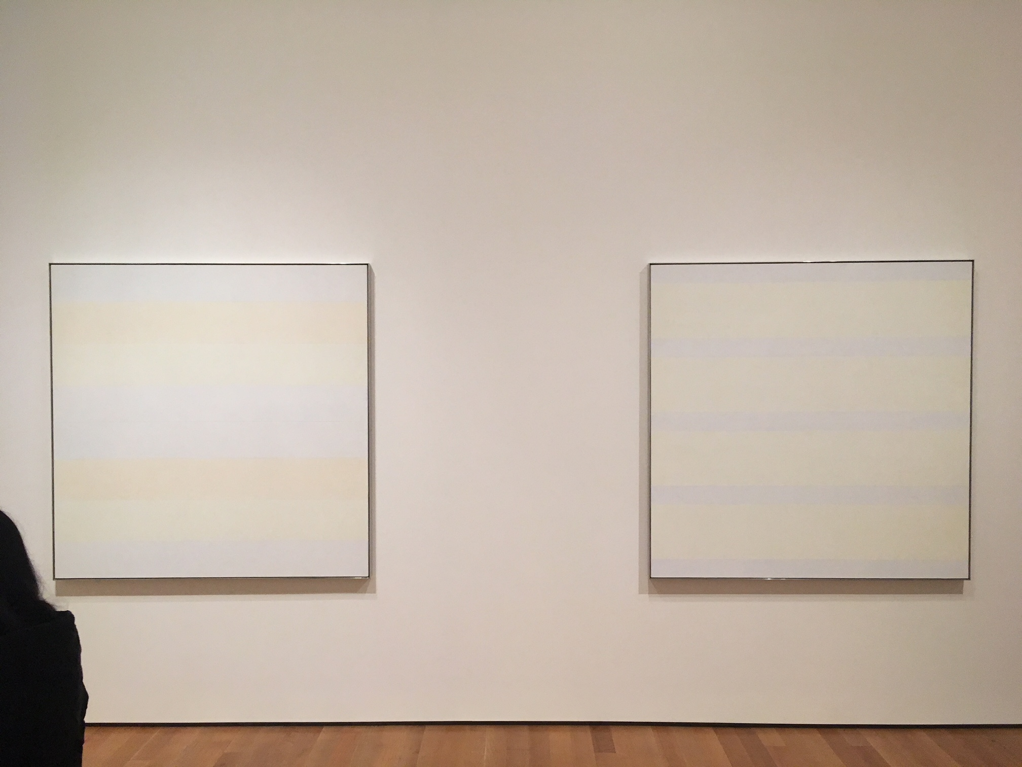 Agnes Martin at the MoMA;photo by Mara Vlatkovic