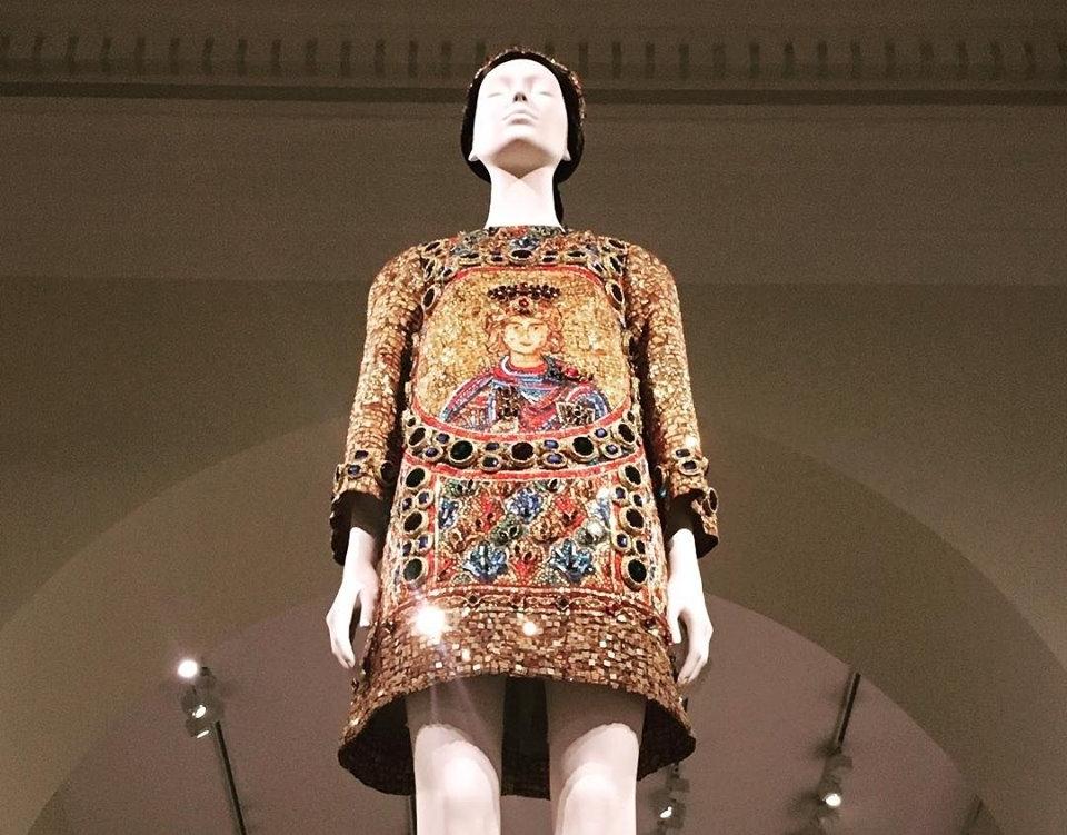 "Dolce & Gabbana Dress at The Metropolitan Museum of Art ""Heavenly Bodies"" Exhibition. Photo: Mara Vlatkovic"