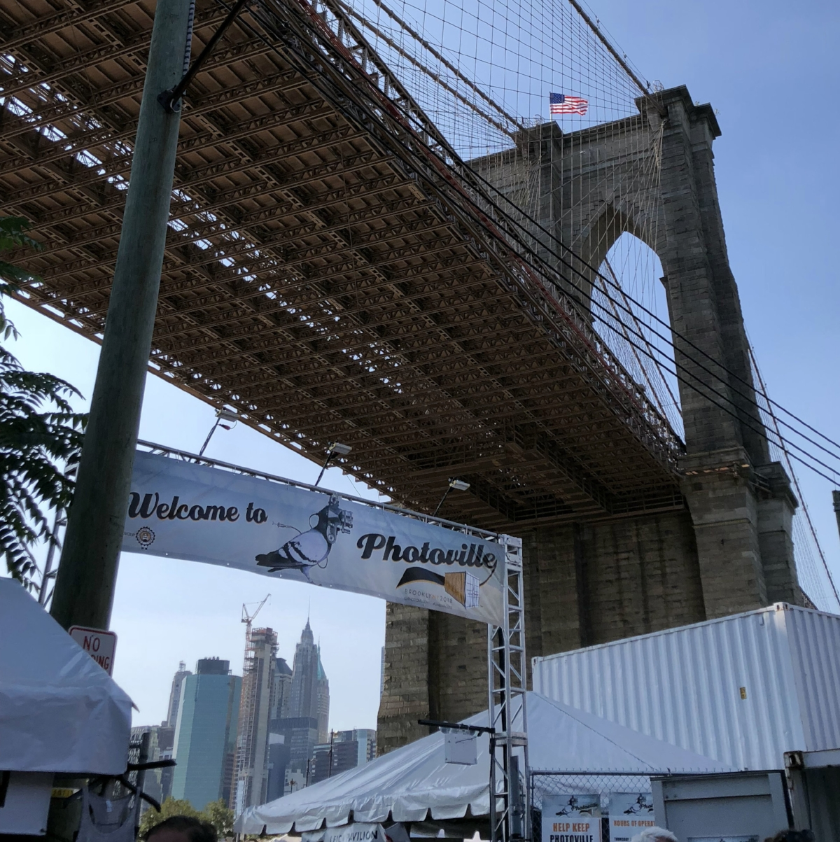Seventh edition of  Photoville  under the Brooklyn Bridge. Photo by Jacque Donaldson