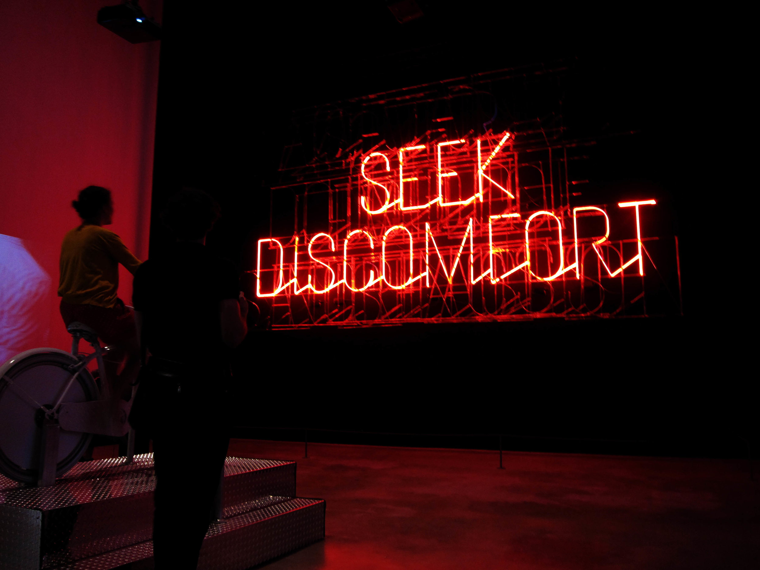 """Stefan Sagmeister, """" The Happy Show, installation view view,"""" 2012 at the Institute of Contemporary Art Philadelphia. Photo Cred: Jacque Donaldson"""